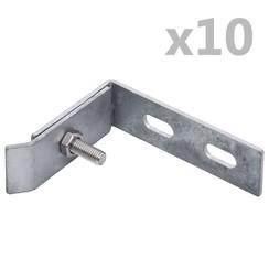 Wand hoekverbinding 10 sets zilverkleurig