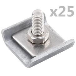 Rastermatverbinding 25 sets antraciet