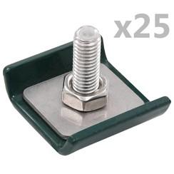 Rastermatverbinding 25 sets groen