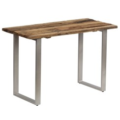 Eettafel 118x55x76 cm gerecycled hout en staal