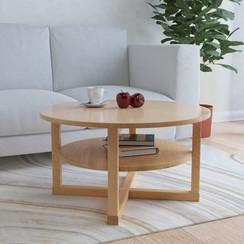 Salontafel 75x40 cm massief eikenhout