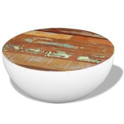 Komvormige salontafel massief gerecycled hout 60x60x30 cm