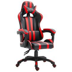 Gamingstoel kunstleer rood