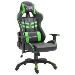 Gamingstoel kunstleer groen