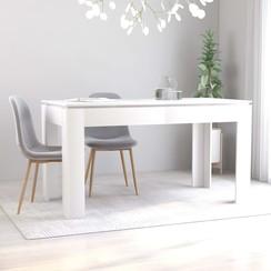 Eettafel 140x70x76 cm spaanplaat wit