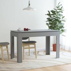Eettafel 120x60x76 cm spaanplaat grijs