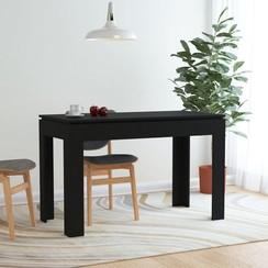 Eettafel 120x60x76 cm spaanplaat zwart