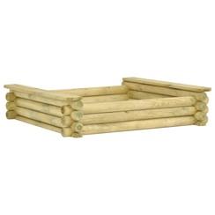 Zandbak 120x120x27 cm geïmpregneerd grenenhout