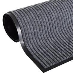 Deurmat 160x220 cm PVC grijs