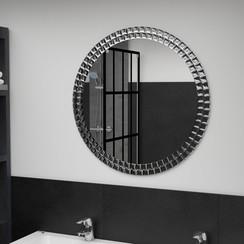 Wandspiegel 70 cm gehard glas zilverkleurig