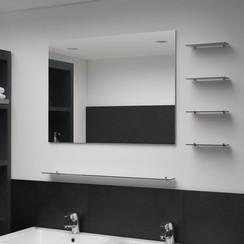 Wandspiegel met 5 schappen 80x60 cm zilverkleurig