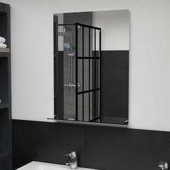 Wandspiegel met schap 50x70 cm gehard glas