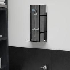 Wandspiegel met schap 20x40 cm gehard glas