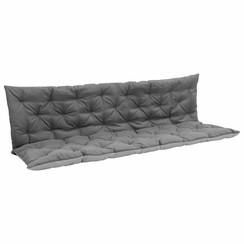 Kussen voor schommelstoel 180 cm stof zwart en grijs