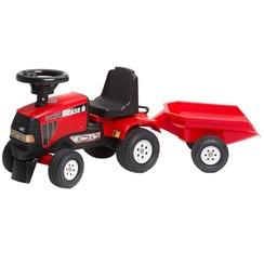 Speelgoedtractor Case CVX 120 met aanhanger rood