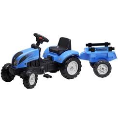 Landini Tractor met oplegger (Blauw)