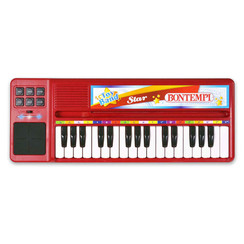 Keyboard elektronisch met 32 toetsen rood