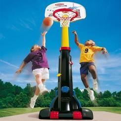 Basketbalset eenvoudig op te bergen (groot)