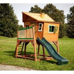 Kinderspeelhuisje met glijbaan hout Max