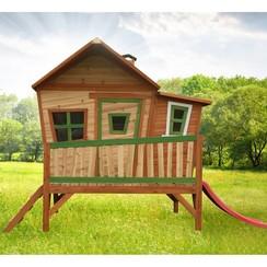 Kinderspeelhuisje met glijbaan Emma hout