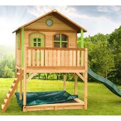 Speelhuis Marc met glijbaan en ladder hout