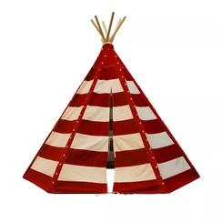Tipi tent Lumo met LED rood en wit C052.103.05