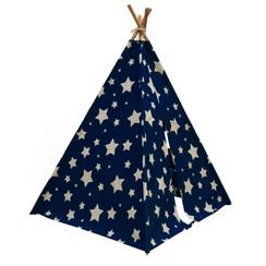 Tipi tent Cosmo glow-in-the-dark blauw en wit C052.102.01
