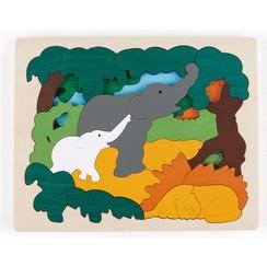Puzzel Aziatisch dieren E6521