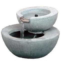 Waterval met rond bassin grijs 35 W 850955