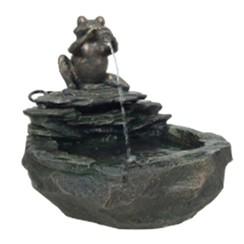 Fontein kikker grijs 850841