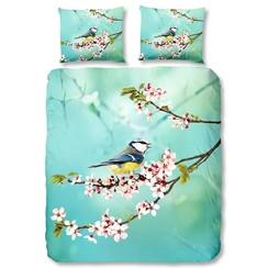 Dekbedovertrek 5855-P Birdsong 200x200/220 cm aqua