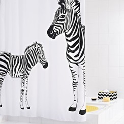 Douchegordijn Zebra 180x200 cm
