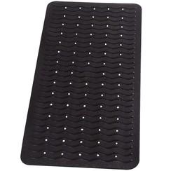 Badmat anti-slip Playa 80x38 cm zwart 68310