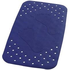 Badmat anti-slip Plattfuß 72x38 cm blauw 67063