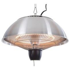 Terrasverwarmer hangend Gemma 1500 W halogeen zilver CE11