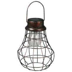 LED-tuinlantaarn solar Rumba bruin 30102