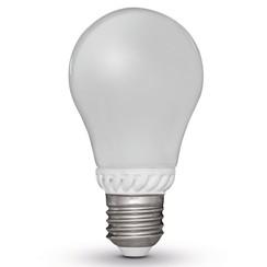 set van 4 peervormige LED lampen E27 230V