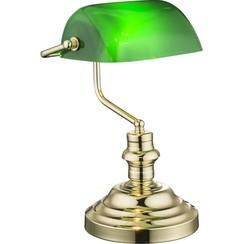 Tafellamp ANTIQUE messing groen 2491K