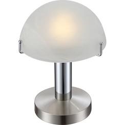 LED-tafellamp OTTI chroom glas 21934