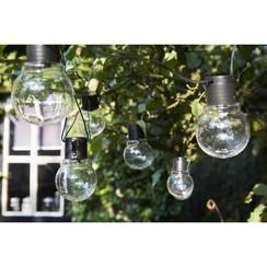 Feestverlichting op batterijen met 10 LED's Menorca transparant