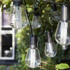 Feestverlichting op batterijen met 10 LED's Alicante transparant