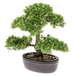 Kunstplant mini bonsai ficus groen 32 cm 420002