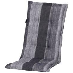 Laag stoelkussen Denim Stripe 105x50 cm grijs MONLF364