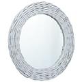 vidaXL Spiegel 120x60 cm wicker wit