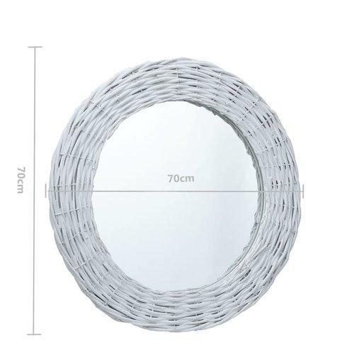 vidaXL Spiegel 70 cm wicker wit