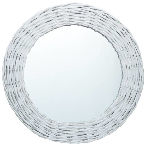 vidaXL Spiegel 40 cm wicker wit