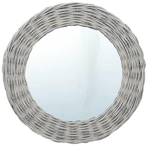 vidaXL Spiegel 50 cm wicker