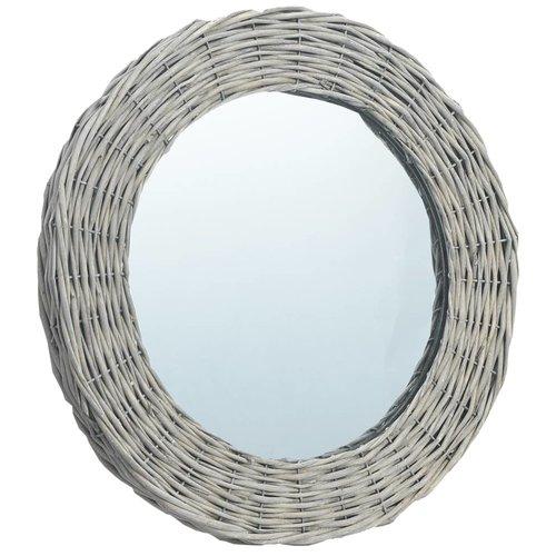 vidaXL Spiegel 40 cm wicker