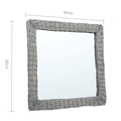 vidaXL Spiegel 60x60 cm wicker