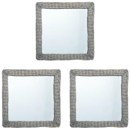 vidaXL Spiegels 3 st 15x15 cm wicker